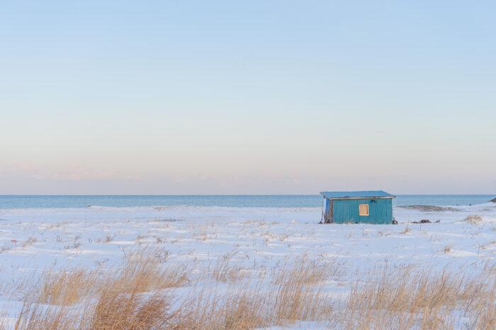 Blue shed, Notsuke Peninsula