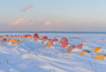 Fishing net floats, Notsuke Peninsula