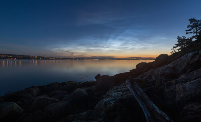 Noctilucent clouds over Oslo